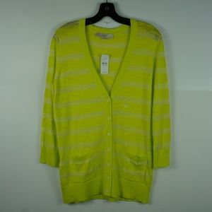 Loft Women Sweater Cardigan Button Down Cotton